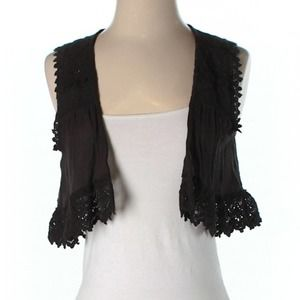 Urban Outfitters sleeveless lace cardigan